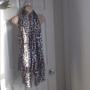 Talbots leopard print scarf